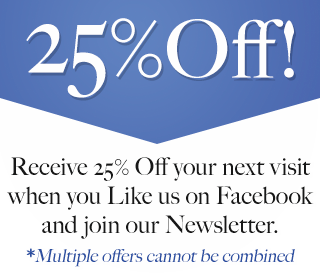 25% Off Your next visit