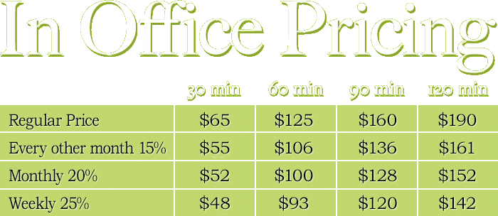 In Office Price List